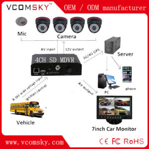 4channels D1 Mini SD Card 3G + WiFi+GPS+G-Force School Bus Mobile DVR pictures & photos