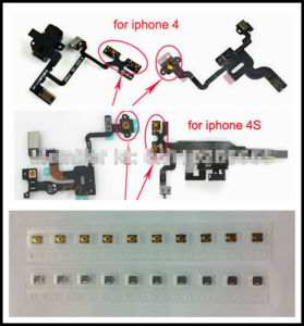Power Sleep Button Power Switch Spring Piece for iPhone 4 4s Power Flex Headphone Audio Jack pictures & photos