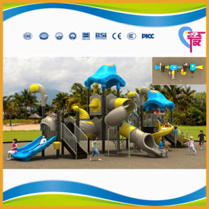 Factory Price Lovely Plastic Outdoor Playground with Big Slide (A-15027)