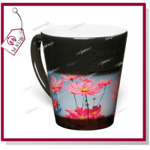 12oz Glossy Black Color Latte Heat Sensitive Color Changing Mug pictures & photos