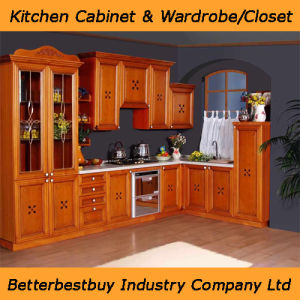 L Shape Kitchen Cabinet with Quartz Stone Countertop pictures & photos