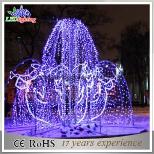 2015 New 3D Fountains Light LED Sculpture Light LED Christmas Motif Light pictures & photos
