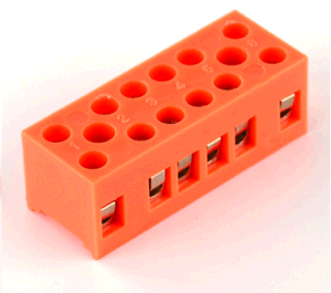 H Fixed Terminal Blocks (H3801) Orange Terminal Block pictures & photos