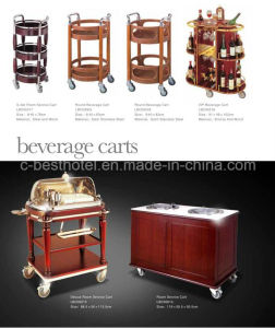 Hotel Wine Serving Cart Hotel Liquor Trolley pictures & photos