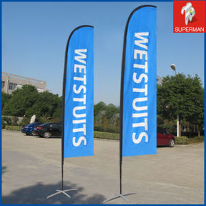 Hot Sale Advertising Fiberglass Printing Beach Flag (SM050077)