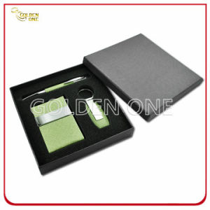 Colorful Leather Card Holder & Key Chain Gift Set pictures & photos