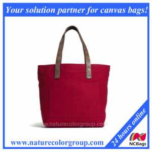 Canvas Red Tote Handbag for Women