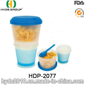 New Promotional Breakfast Cereal Cup Plastic Salad Shaker Cup (HDP-2077) pictures & photos
