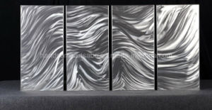 Purely Hand-Made Aluminum Painting of The Stormy Sea pictures & photos