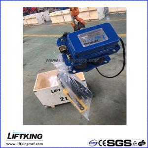 Liftking 2t Dual Speed Electric Chain Hoist with Electric Trolley (ECH 02-01D & ET-02D) pictures & photos