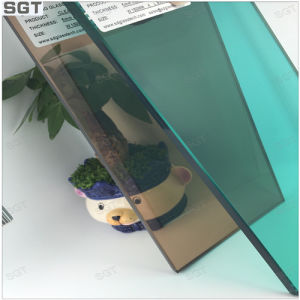 6mm Tempered Laminated Glass with Green/ Tea Color pictures & photos