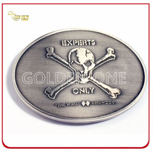 Customized Antique Sliver Plated Embossed Metal Belt Buckle pictures & photos