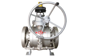 API Soft Seal Flanged Trunnion Ball Valve