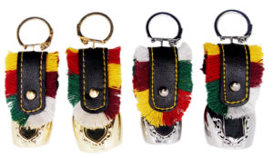 Souvenir Bells Gifts with Embossed Sticker Holder as Keychains