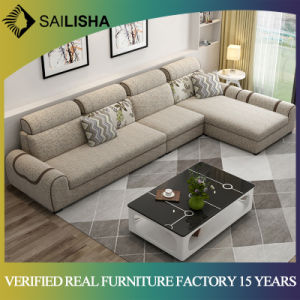 Modern Simple Living Room Furniture Set Simple Design Large Sofa Sectional  Combination Fabric Sofa Couch