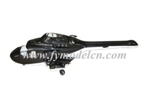 450 Size Airwolf Scale Fuselage Black Painting