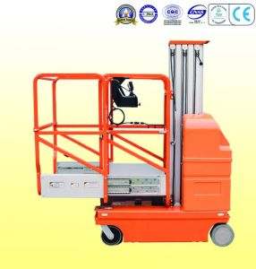 Single Mast-Full Electric Aluminum Work Platform