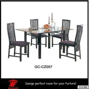 4 Seat European Style Wrought Iron Modern Furniture Luxury Dining Room Set