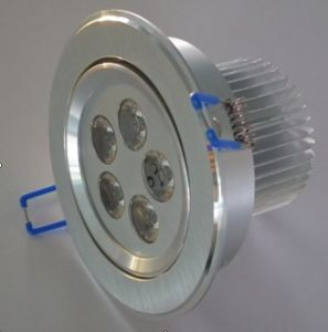 5W LED Ceiling Down Light Lathe Aluminum Alloy 2 Year Warranty