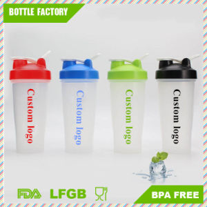 600ml Plastic Protein Shaker Bottle with Mixer Ball Inside pictures & photos