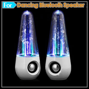 Bluetooth speaker with water and lights