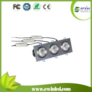 3*10W Square LED Downlight with CE RoHS