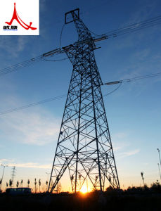 Galvanized Tele-Transmission Steel Tower pictures & photos