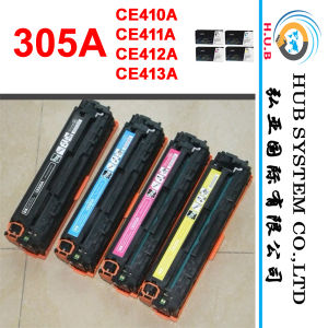 High Quality Color Toner for HP 305A (410A, 411A, 412A, 413A) , Compatible