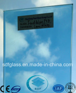 Double Clear Float Glass+Ford Blue PVB Laminated Glass with CE, ISO