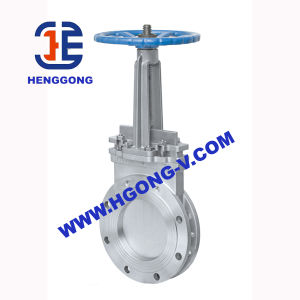 DIN/API/JIS Stainless Steel Handwheel Industrial Water Knife Gate Valve