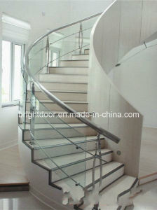 Stainless Steel Glass Stair Balustrade/Safety Glass Fence/Stair Rail pictures & photos