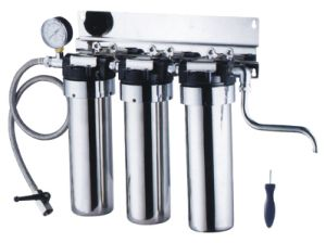 Three Stage Counter up Stainless Steel Water Purifier Kk-B3 pictures & photos