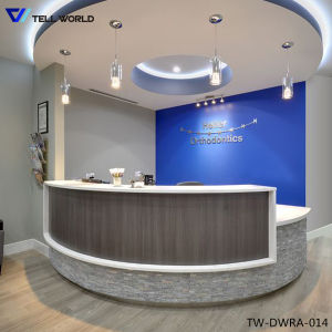 Curved Design Office Reception Desk pictures & photos