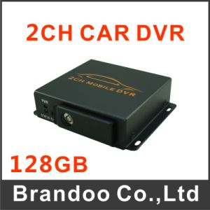 Hot Sale in Russian Car Black Box, Car DVR, Russian Menu Mobile DVR Works with 2 Cameras, 128GB SD Card