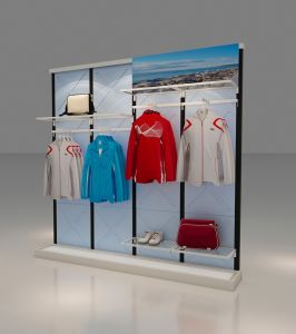 Concise Wall Unit for Garment Stores