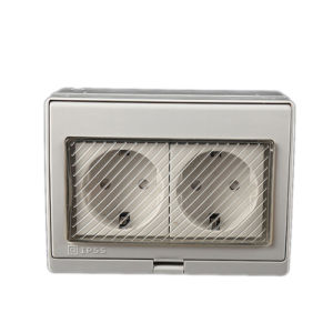China Ce Waterproof Dust-Proof Outdoor Wall Double Power Socket, 16A ...