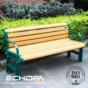 Wood Plastic Composite Outdoor With Cast Aluminum Garden Bench Legs