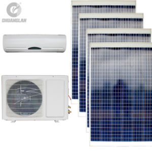 AC/DC Solar Inverter Air Conditioner with Solar Panels Without Batteries