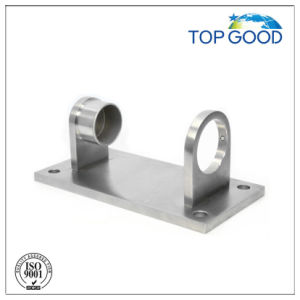 4-Hole Rectangular Mounting Bracket for Round Stainless Steel Intermediate Posts