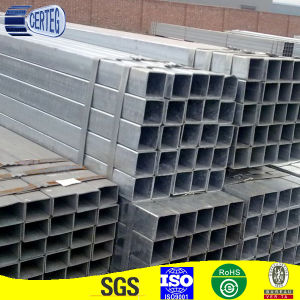 Mild Steel 25mm Q235 ERW Welded Galvanized Square Steel Pipe pictures & photos