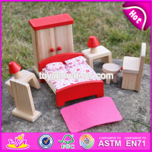 New Design Children Toys Red Wooden Dolls House Furniture W06b053 pictures & photos