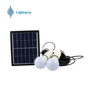 Solar Home System Solar Panel Lighting Kit with 2bulbs pictures & photos