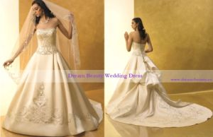 Wedding Dress & Wedding Gown (Hs04-Mic)