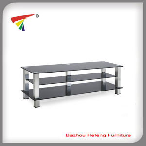 Rectangle Tempered Glass TV Stand/ TV Rack (TV108) pictures & photos