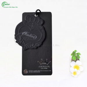 Custom Various Embossed Swing Tag Hang Tag for Garment/Clothing/Shoes/Sunglasses (KG-PA028)