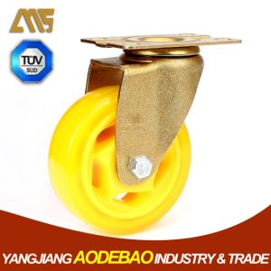 Light Duty Golden Plating Swivel PVC Caster Wheel