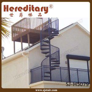 Prefab Steel Wood Straight Staircase / Arc Stairs /Spiral Stair