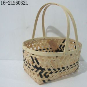 S/3 Convenience for Carrring with Handle of Ratton Weaving Baskets pictures & photos