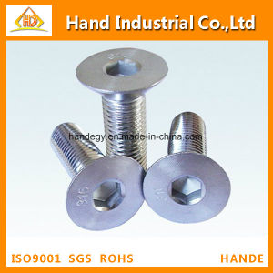Ss A2-70 Inch Size Hex Socket Flat Head Screw pictures & photos