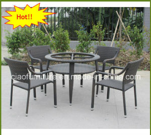 Malaysia Special Design Rattan Outdoor Dining Table Set
